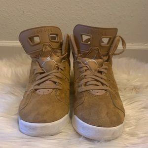 """Boys Air Jordan Retro 6 """" Wheat"""""""